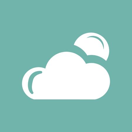 night: Cloudy night weather icon