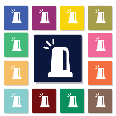 flashing: Police flashing lamp icon Illustration