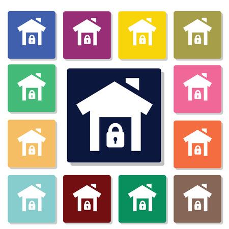 safety icon: House in safety icon
