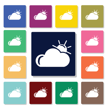 partly sunny: Partly cloudy weather icon