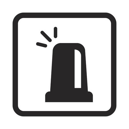 flashing: Police flashing lamp icon Illustration