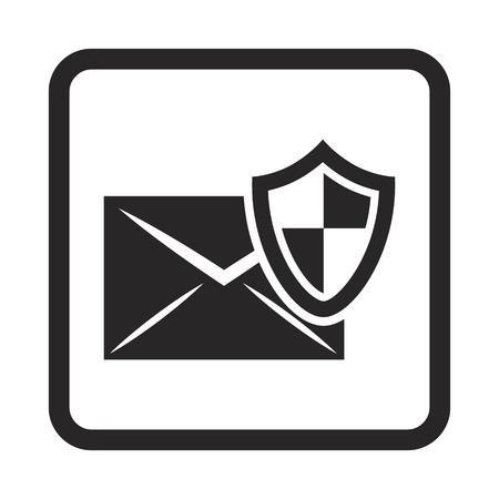 protection icon: Protection of correspondence icon Illustration