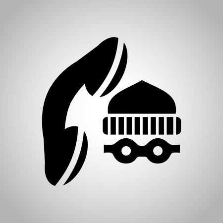 burglar alarm: Call the police icon Illustration