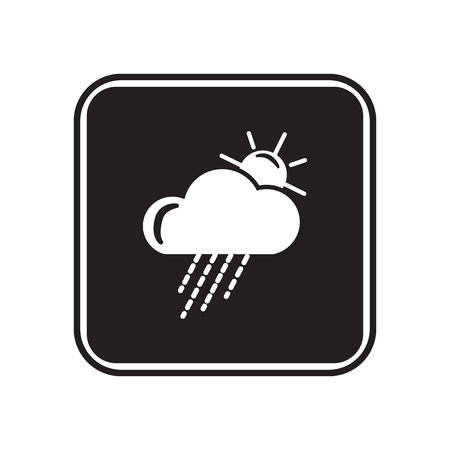 partly sunny: Partly cloudy with rain weather icon