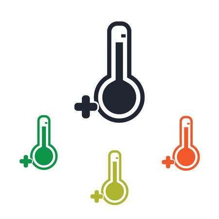 zero: Temperature above zero icon Illustration