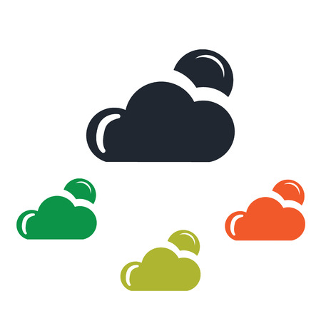 cloudy: Cloudy night weather icon