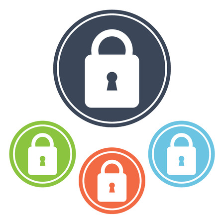 lock icon: Lock icon Illustration