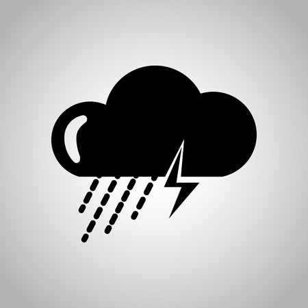 rain storm: Storm with rain icon Illustration