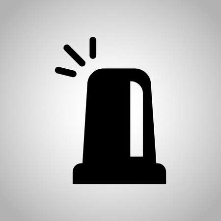 signal device: Police flashing lamp icon Illustration