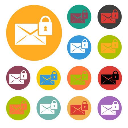 Protection of correspondence icon Illustration