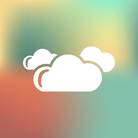 cloudy weather: Cloudy weather icon