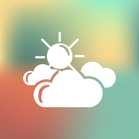 partly: Partly cloudy weather icon