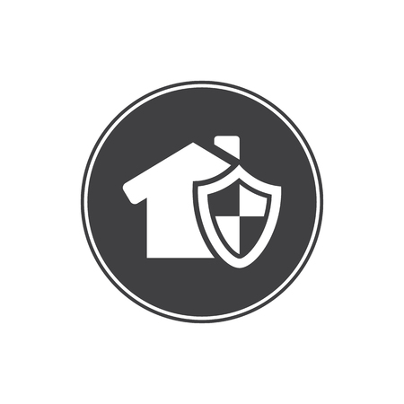 protection icon: House under protection icon