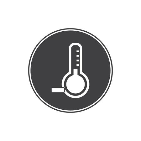 zero: Temperature below zero icon Illustration