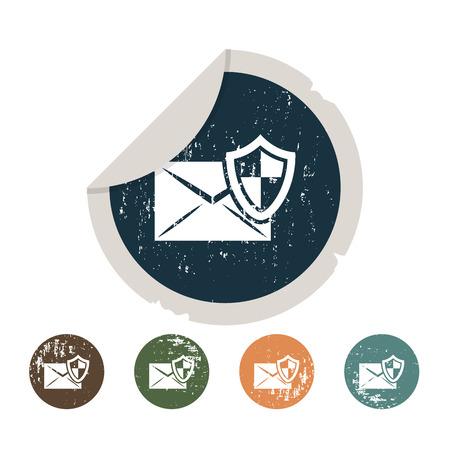 levelezés: Védelem a levelezés ikonra Illusztráció