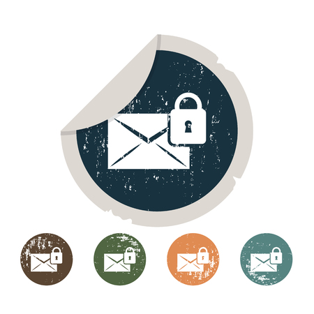 safety net: Protection of correspondence icon Illustration