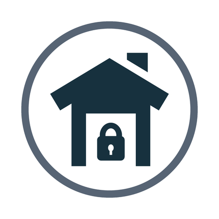 safety: House in safety icon