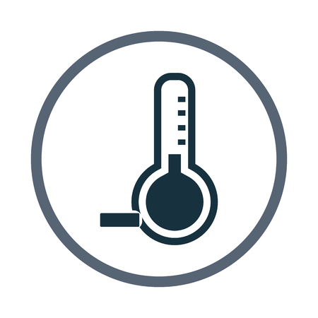 below: Temperature below zero icon Illustration