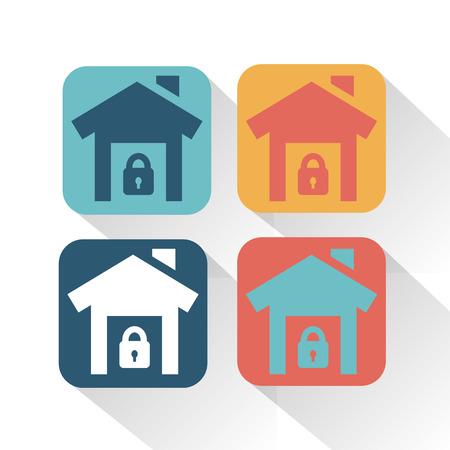 콘도: House in safety icon