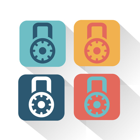 combination: Combination lock icon