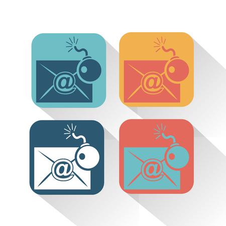 correspondencia: Hackear correspondencia icono Vectores