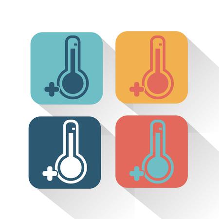 from above: Temperature above zero icon Illustration