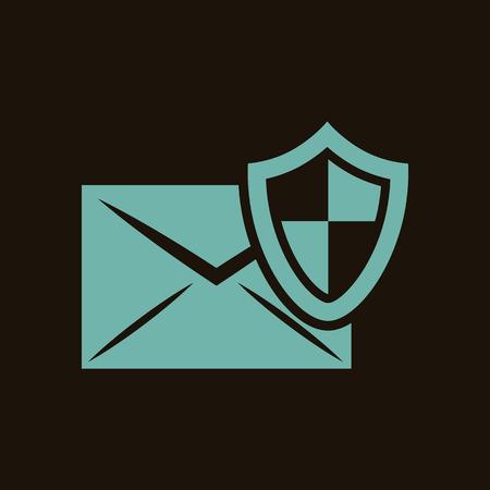 correspondence: Protection of correspondence icon Illustration