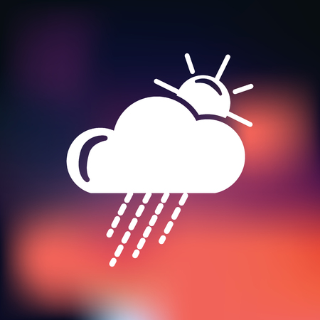 partly: Partly cloudy with rain weather icon