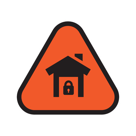 콘도: 안전 아이콘 하우스 일러스트