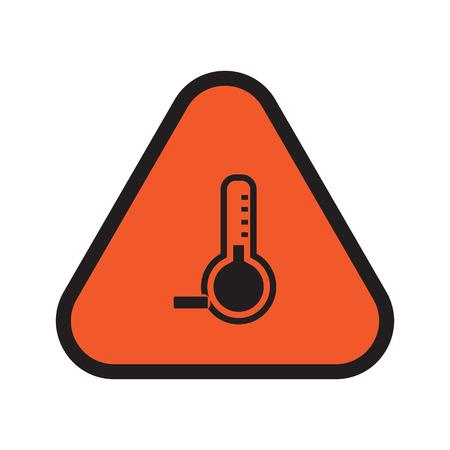 below: Temperature below zero icon Illustration