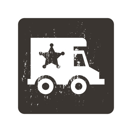 security icon: Security car icon Illustration