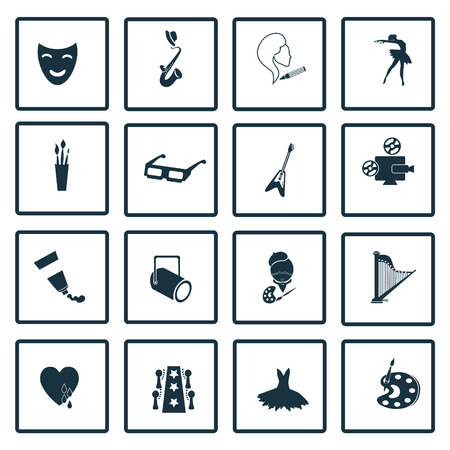 dieci: Set of sixteen art icons