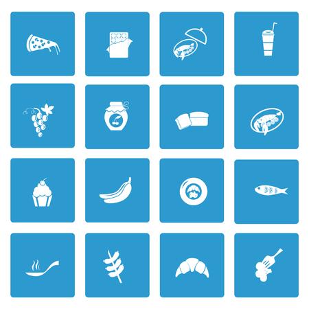 food icons: Set of  sixteen food icons