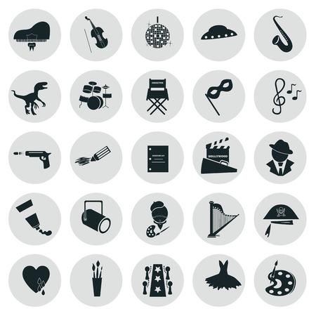 poppers: Set of twenty five art icons Illustration
