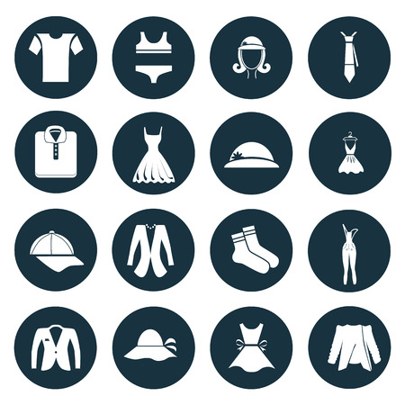 dieci: Set of sixteen clotht icons
