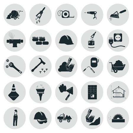 Set of twenty five construction icons Illustration