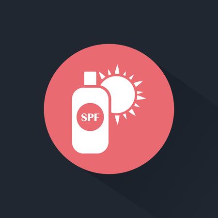 sunburn: Sun cream icon