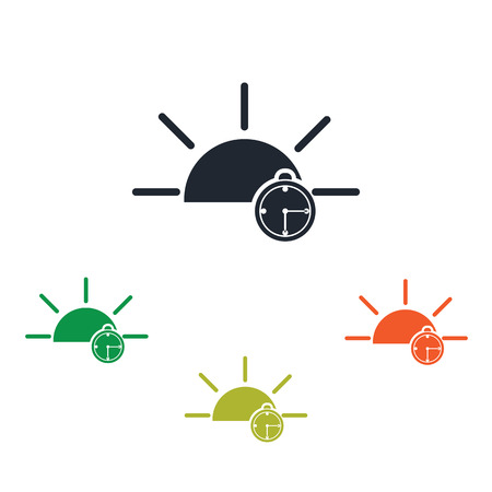 Early awakening from sleep icon Illustration