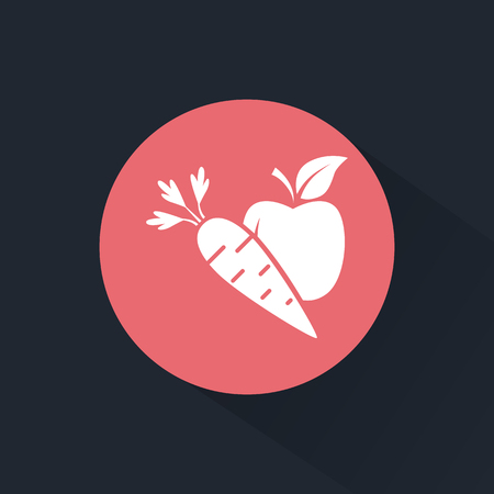 carrot: Apple with carrot icon