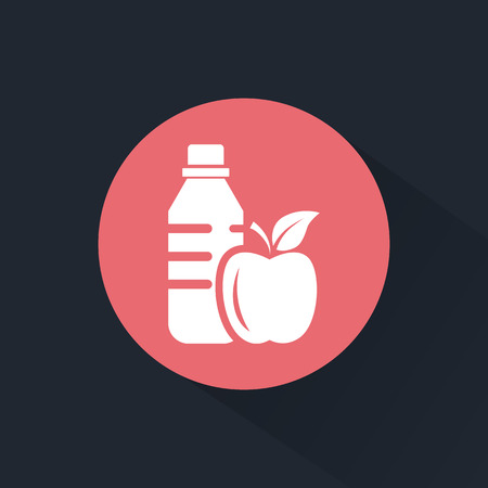 useful: Drink and useful food icon Illustration