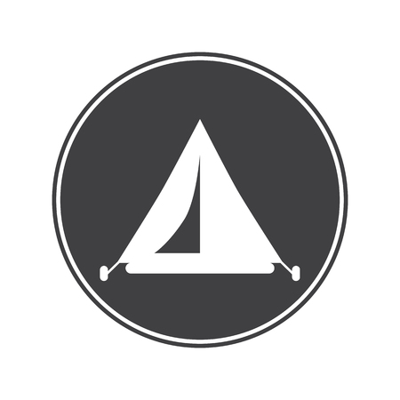 sleeping bags: Travel tent icon