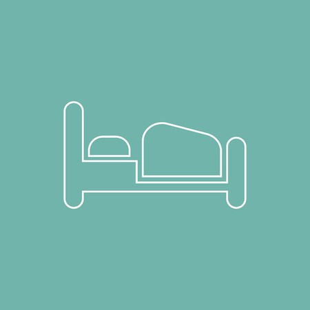 tourists stop: Bed icon
