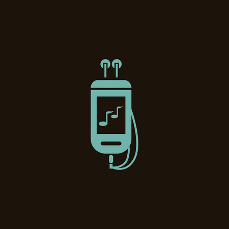 bodies of water: Music player icon Illustration