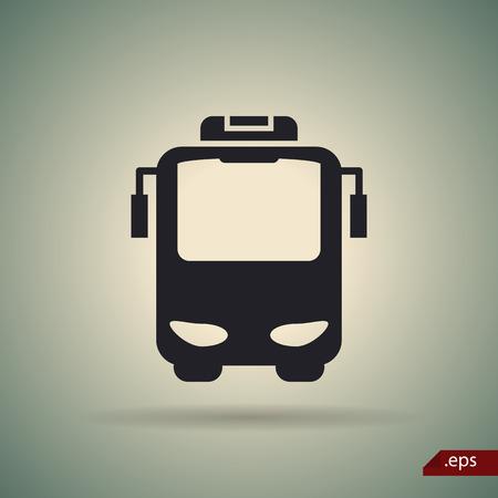 overseas: Travel bus icon Illustration