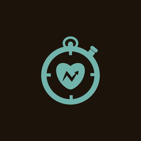 beat the clock: Sport watch icon