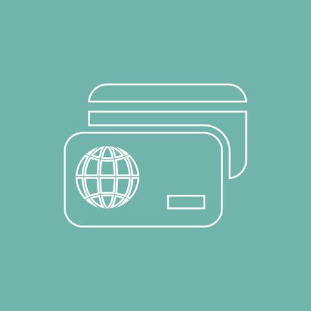credit card icon: Credit card icon Illustration