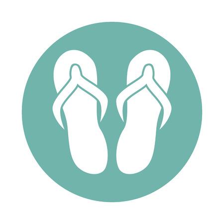 overseas: Flip flops icon Illustration