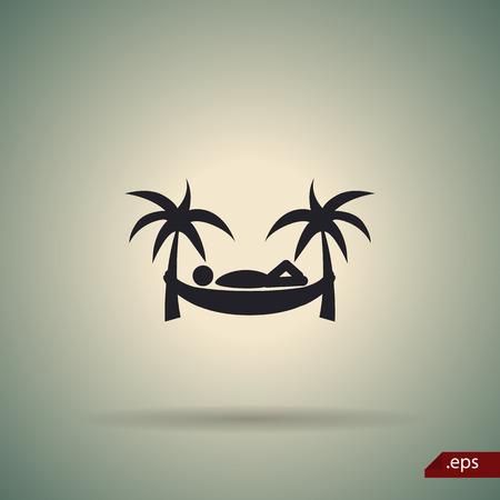 hamaca: Hombre en icono de la hamaca