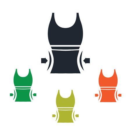 waist: Waist loss icon