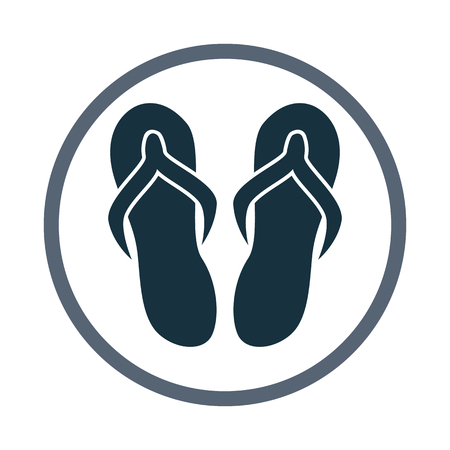 Flip flops icon Illustration